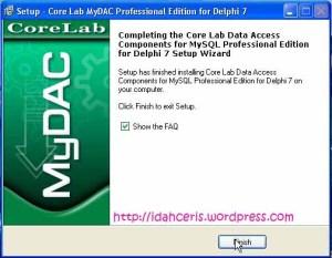 Install mydac selesai