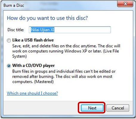 Isikan Nama Disc