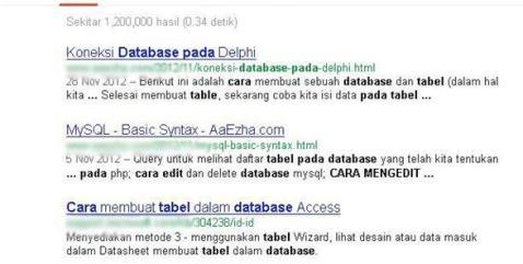 Pencarian Edit Database