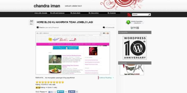 Tampilan Blog Chandra