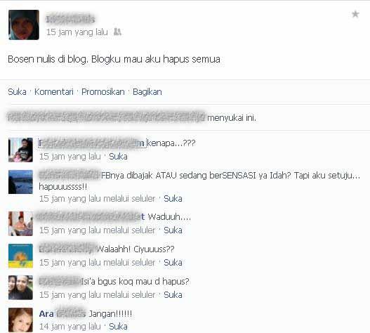 Posting Facebook