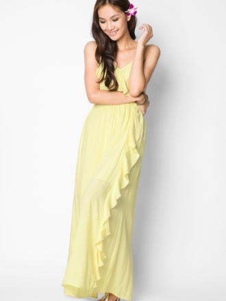 1 Ezra Ruffle Maxi Dress