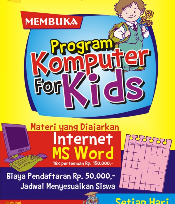 brosur komputer for kids NEW