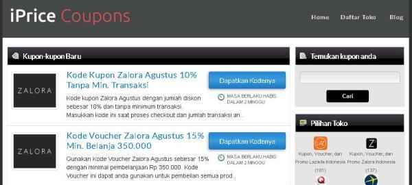 kupon belanja online iprice indonesia