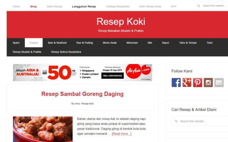 website-resep-koki